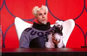Mugatu #1: An evil, white-haired fashion designer