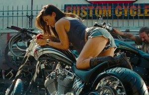 Does she ride a Harley Garbage Disposal or a Kawasaki Blender?